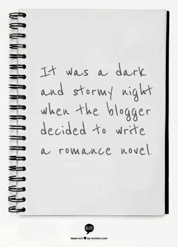 it was a dark and stormy night on a notepad